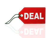 3d tag label word text deal Royalty Free Stock Photos