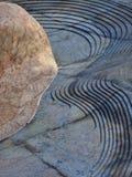 D?tail architectural, roche de chaux et roche d?coup?e de basalte photographie stock libre de droits