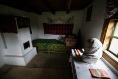 D?tails avec la maison dans laquelle Nicolae Ceausescu, dictateur communiste roumain, ?tait n? en 1918 image stock