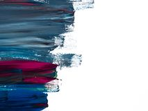 D?tails de peinture modernes acryliques avec le contraste vibrant images libres de droits