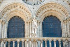 D?tails sur la fa?ade du Notre-Dame de Paris photo stock
