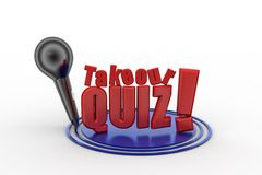 3D Take Our Quiz Stock Photography