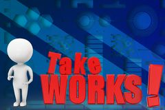 3d take works illustration Stock Images