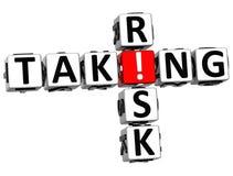 3D Taking Risk Crossword Stock Photo
