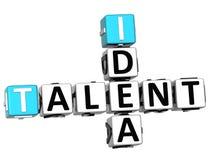 3D talentu pomysłu Crossword Zdjęcie Royalty Free