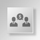 3D talk icon Business Concept Stock Image