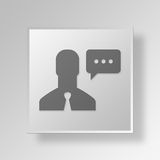 3D talk icon Business Concept Royalty Free Stock Images