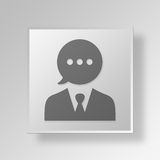 3D talk icon Business Concept Royalty Free Stock Photo