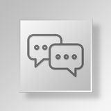 3D talk icon Business Concept Royalty Free Stock Photography