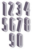 3d tall condensed numbers set. Royalty Free Stock Photo
