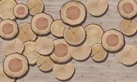 3d tapeta, Drzewna okrąg tekstura, w górę obrazy stock