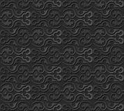 3D tapetują sztuka wzoru krzywy spirali round ramę Zdjęcie Stock