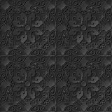 3D tapetują sztuka wzoru spirali wieloboka krzyża owalnego kwiatu Obrazy Stock