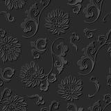 3D tapetują sztuka wzoru krzywy spirali botanicznego kwiatu Zdjęcia Stock