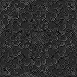3D tapetują sztuka wzoru krzywy spirali round kwiatu Fotografia Royalty Free