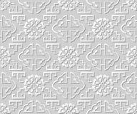 3D tapetują sztuki geometrii deseniowej spirali drabinowego kwiatu Fotografia Stock