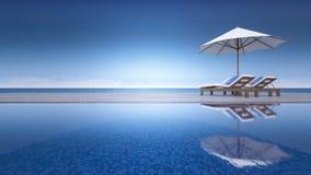 3d tarasu morza widok Zdjęcia Royalty Free