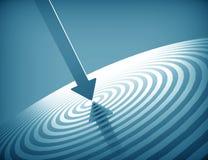 3d target and arrow. Blue design Stock Photography