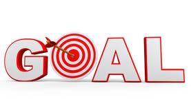 3D target arrow and goal text Stock Images
