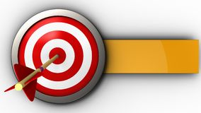 3d target with arrow. 3d illustration of target with arrow over white background Stock Photography