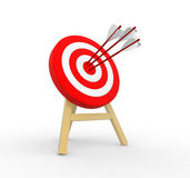 3d target and arrows. 3d render Stock Image