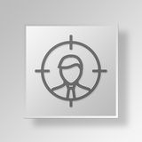 3D target auditory icon Business Concept. 3D Symbol Gray Square target auditory icon Business Concept Royalty Free Stock Photography
