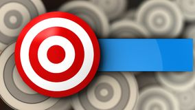 3d target with blank. 3d illustration of target over multiple targets background Royalty Free Stock Photos