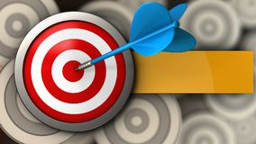 3d target with blue dart Stock Photo