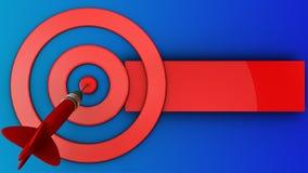 3d target circles with dart Stock Image