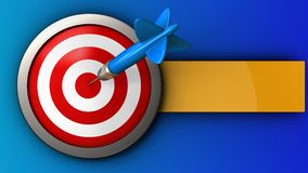 3d target with dart Royalty Free Stock Image
