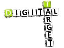 3D Target Digital Crossword Stock Images