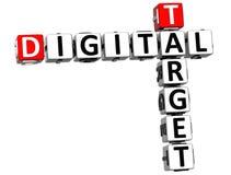 3D Target Digital Crossword Royalty Free Stock Photo