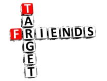 3D Target Friends Crossword. On white background Stock Images