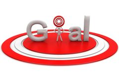 3d target with goal text Royalty Free Stock Images