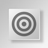 3D Target icon Business Concept. 3D Symbol Gray Square Target icon Business Concept Stock Photography