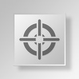 3D Target icon Business Concept. 3D Symbol Gray Square Target icon Business Concept Stock Photo