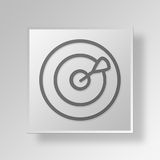 3D Target icon Business Concept. 3D Symbol Gray Square Target icon Business Concept Royalty Free Stock Image