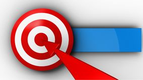 3d target with red arrow Royalty Free Stock Photos