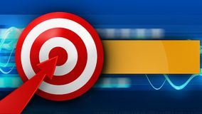 3d target with red arrow Royalty Free Stock Image