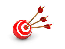 3d target sphere and arrows Royalty Free Stock Photo