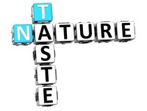 3D Taste Nature Crossword text. Over white background Royalty Free Stock Image