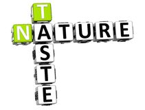 3D Taste Nature Crossword text. Over white background Royalty Free Stock Photography