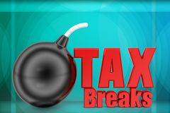 3d tax breaks illustration Stock Photo