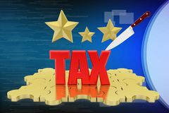 3d tax illustration Stock Photography