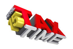 3D Tax Time text Stock Photography