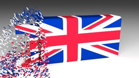 3D TAX word chipped out of a UK flag note stock footage