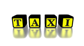 3D taxi  logo yellow and black Stock Images