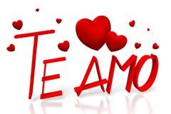 3D Te amo - I love you in Italian Royalty Free Stock Image