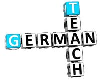 3D Teach German Crossword Royalty Free Stock Images
