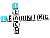 3D Teach Learning Crossword. On white background Stock Image